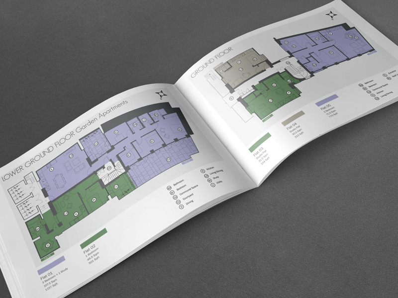 High end Property Brochure floor plan