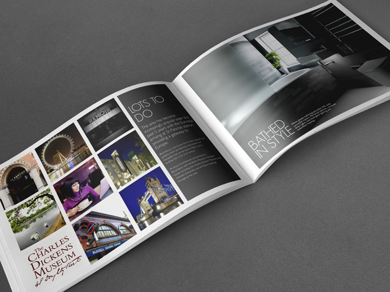 High end Property Brochure spread