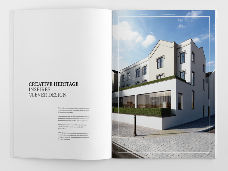 elegant brochure design townhouse exterior