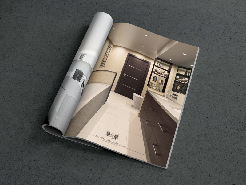 elegant brochure design townhouse interior