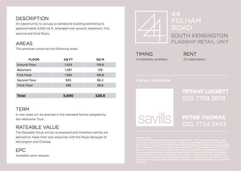 fulham road commercial presenter document design savills